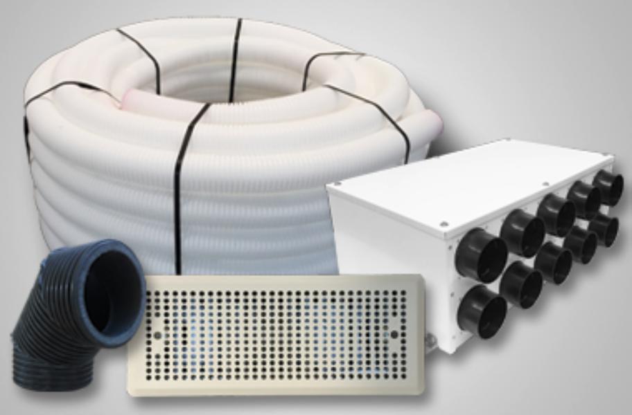 Ventilācijas rekuperācijas sistēmas komplekts ar siltā gaisa un mitruma atguvi (līdz 130m2)